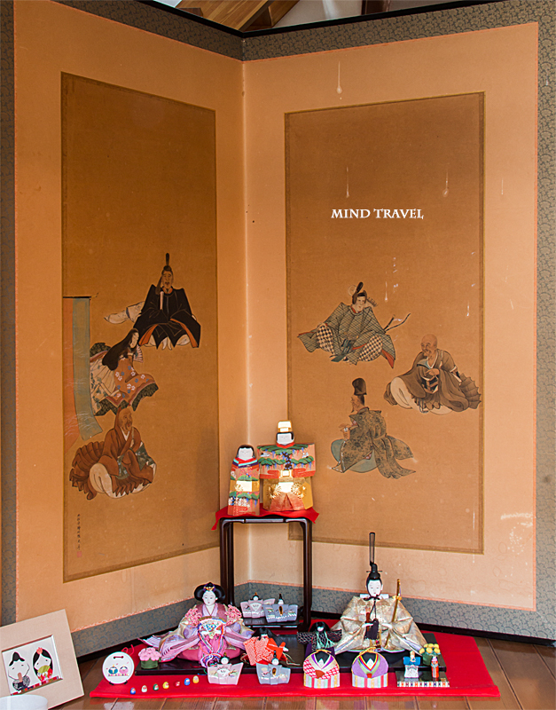 加茂船屋の雛祭 六歌仙の屏風と雛人形