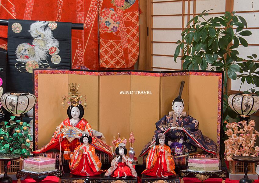 加茂船屋の雛祭 着物と雛人形