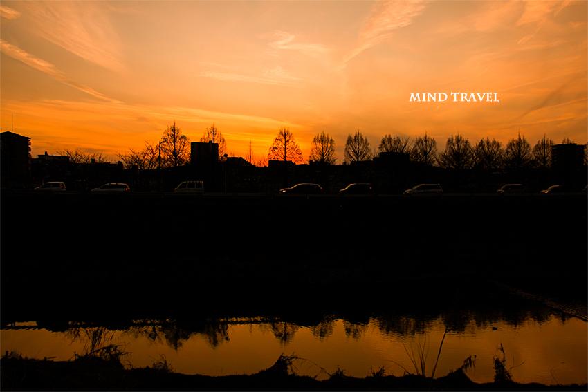 天の川 夕景