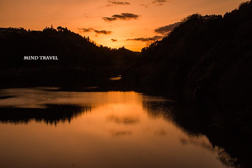 月ヶ瀬湖 夕景