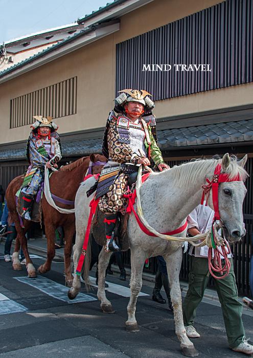 平野神社 桜祭神幸祭 騎乗する武士