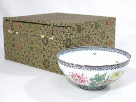 中国美術 薄胎碗 景徳鎮製 箱付