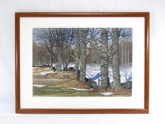 キャロル コレット 「Spring Thaw」 銅版画