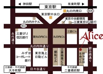 アリスアクアガーデン丸の内地図
