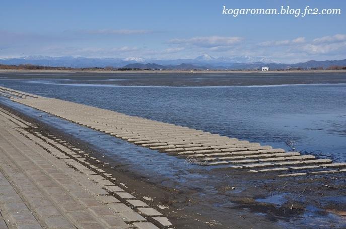 谷中湖は最低水位期3