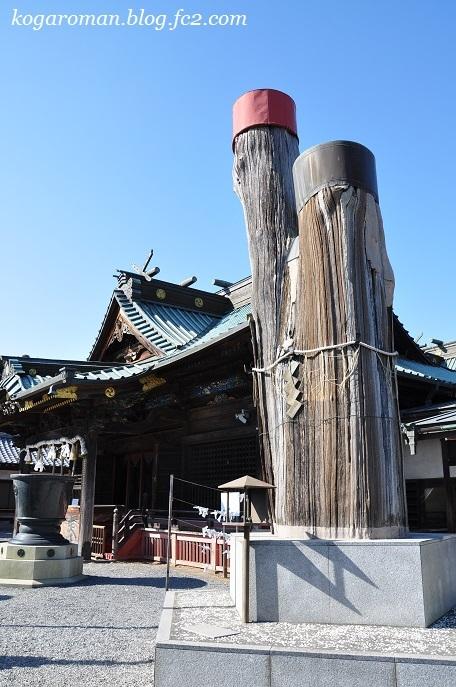 雷電神社の梅と蝋梅5
