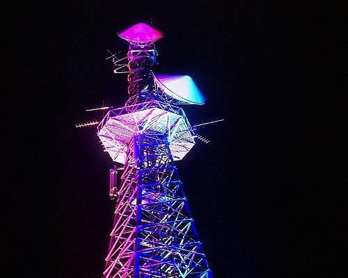 鉄塔ライトアップ