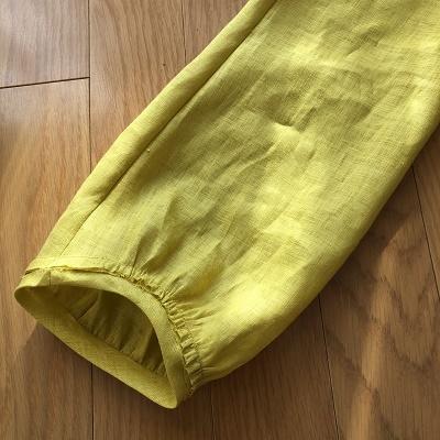 ブラウス製作中~袖付け縫い代始末