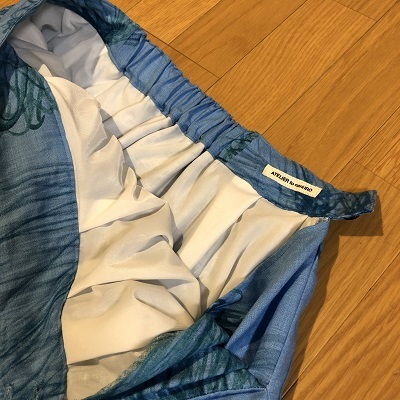 脇ポケットのロングスカート