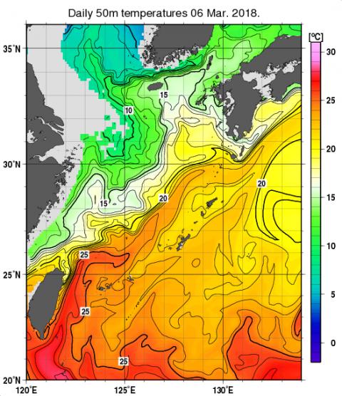 海面温度50m