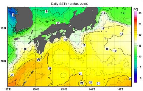 13日の海水温度