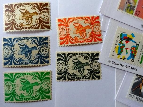 ニューカレドニア鳥切手
