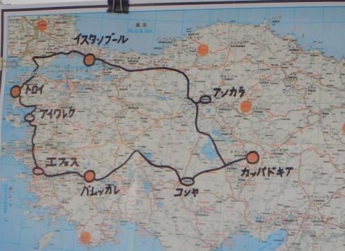 バス内の地図