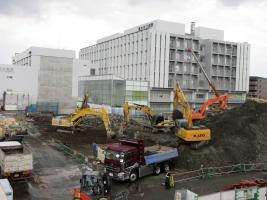 市立病院、第Ⅲ期工事中のころ