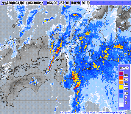 気象レーダー 201803010300-00