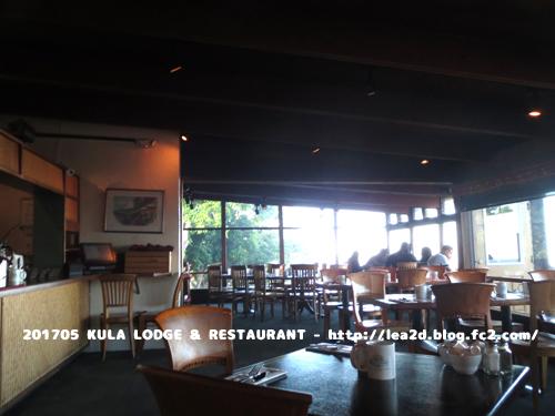 201705 マウイ島のKULA LODGE & RESTAURANT で朝食はクラストロベリーなワッフルとオムレツ