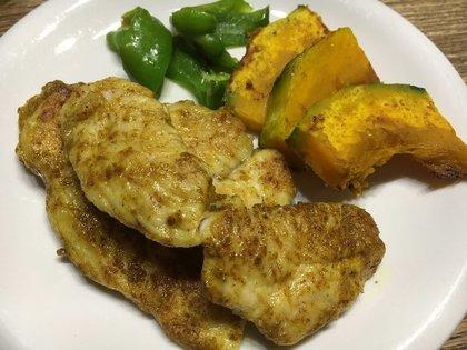鶏胸肉のカレーソテー
