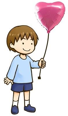 風船を持つ男の子