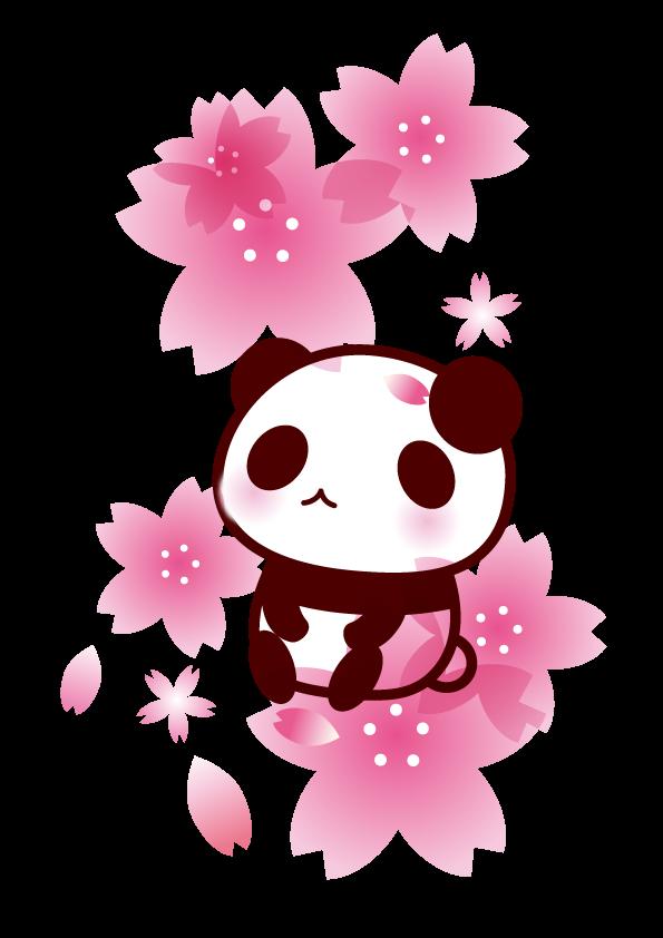 春 桜 パンダ