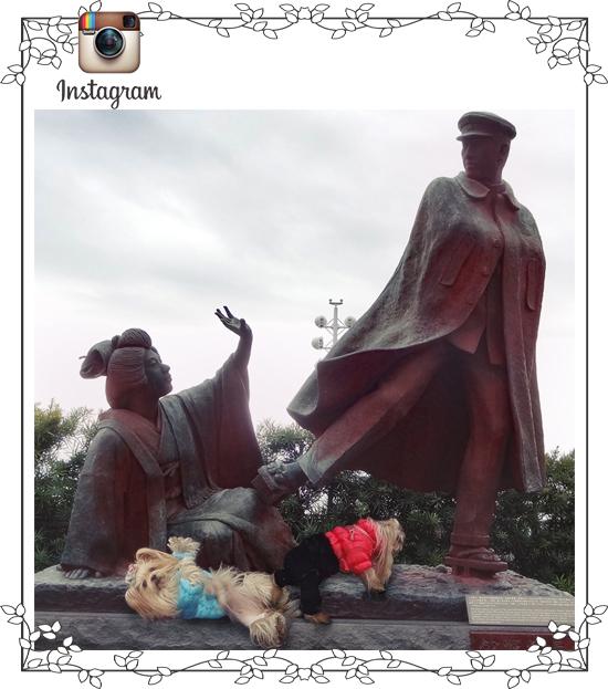2018年01月05日② 熱海 お宮の松と像 お宮りれらと寛一パコ (isnta)