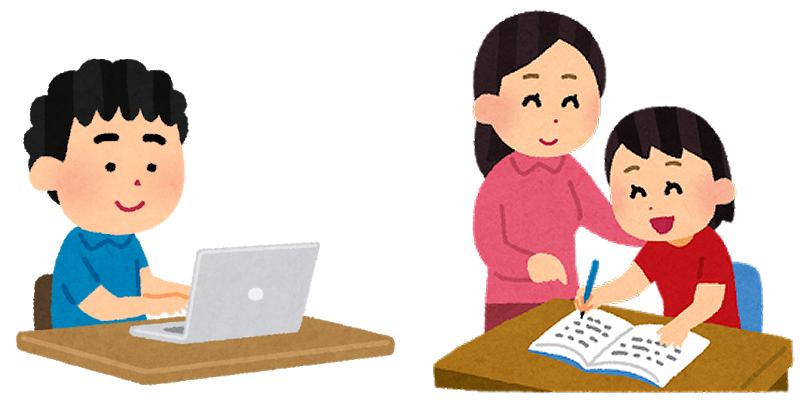 家庭教師・オンライン家庭教師・オンライン学習で授業・受験対策