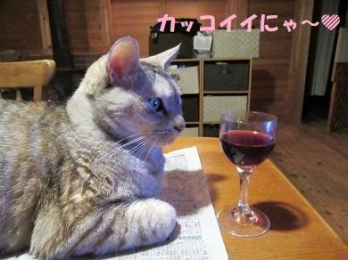 ワイン飲みながら
