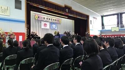 花咲徳栄高校の卒業式