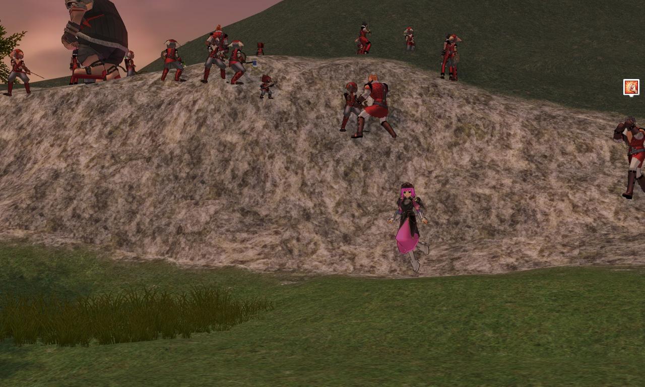 崖の上の赤い盗賊団