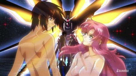 ガンダムSEED DESTINY HDリマスター版オープニング ラクス・クラインの胸裸ヌード乳首3