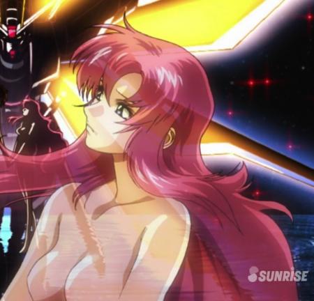 ガンダムSEED DESTINY HDリマスター版オープニング ラクス・クラインの胸裸ヌード乳首4