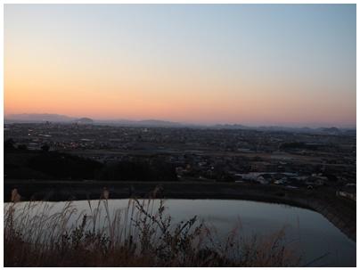 伊予灘の日没4