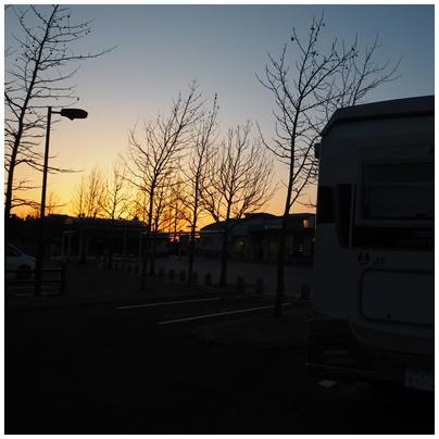 伊予灘の日没6