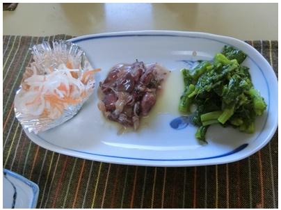 お昼ごはん(3種盛)