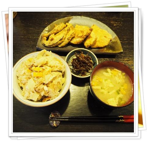 たけのこご飯と天ぷら2