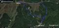 24 三峰山 ルート図 グーグルアース