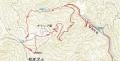 25 和佐又山のルートマップ 大
