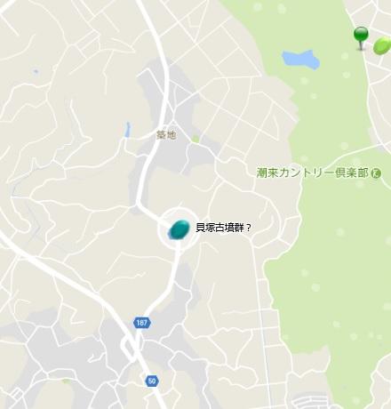 潮来 築地 貝塚古墳群?地図