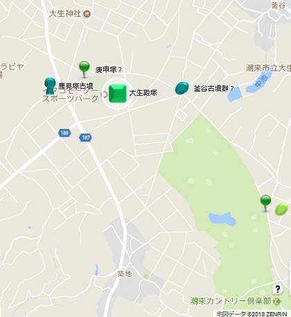 大生殿塚古墳地図