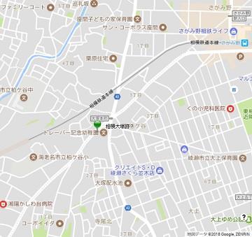 相模大塚地図
