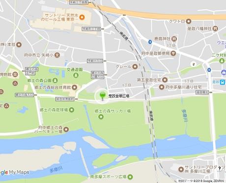 是政金塚桜広場地図