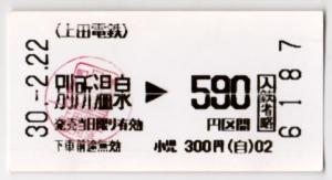上田交通 別所温泉→上田