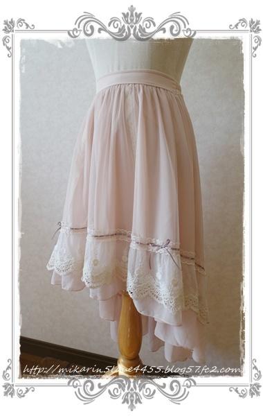 0121フィッシュテールチュールスカート(淡ピンク)2