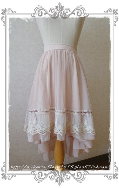0121フィッシュテールチュールスカート(淡ピンク)