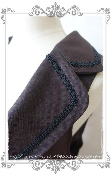 0210フィッシュテールロングベスト(Dブラウン)襟