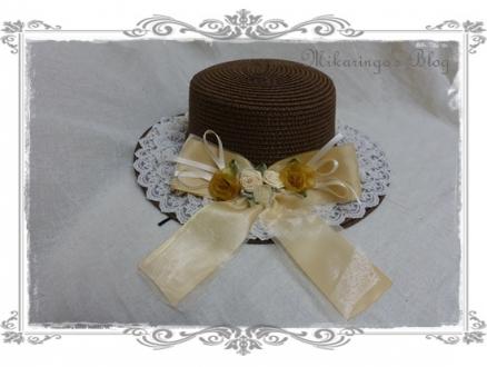 0227巻きバラリボンカンカン帽(茶)3