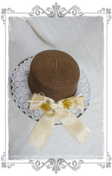 0227巻きバラリボンカンカン帽(茶)2