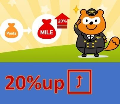 JALマイル交換レート20%アップキャンペーン