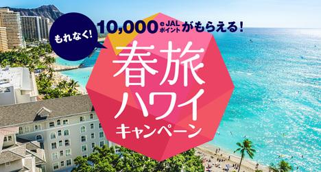 JALは、もれなく10,000e JALポイントがプレゼントされる「春旅ハワイキャンペーン」を開催!