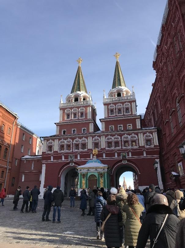 201803 御神事 モスクワ 赤の広場へ入る