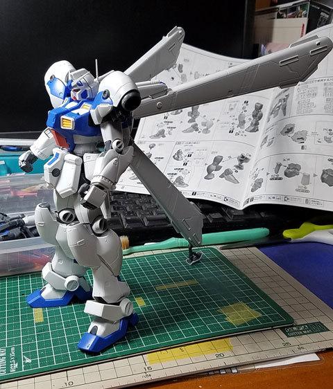 RE/100 GP04ガンダム試作4号機ガーベラ製作